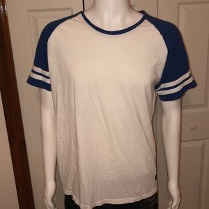 Vintage Striped Blue Sleeve T-Shirt